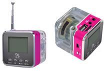 Caixa Caixinha Som Portátil MP3 SD USB  FM Radio Relógio - Dl