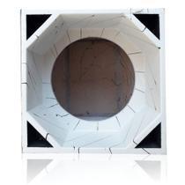 Caixa Canhão Euclides 1 De 15 Pol Mdf 20mm 4 Dutos Paredão - Aquiles