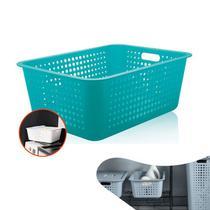 Caixa Cesta Organizadora Grande 40 Litros Multiuso Roupas Lavanderia Closet - CO 460 Ou -