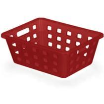 Caixa (Cesta) Organizadora Squares 1,3L 18,5x14x8cm Vermelho Ref. 8226 Arthi -