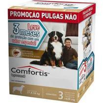 Caixa Com 3 Antipulgas Elanco Comforti 270 mg para Cães 27 A 54 kg -