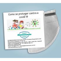 Caixa com 50 - Máscaras Infantil PFF2 N95 Tamanho P - Branca - Ekomascaras - Proteção Respiratória -
