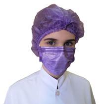 Caixa com 50 Máscaras tripla descartável com elástico PROTDESC várias cores -