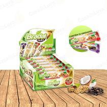 Caixa Com Barras de Cereal Edição Especial Mix Nuts Nutritiva C/12 Unidades -  Sabor Coco - Bradal Nutri