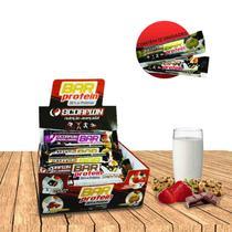 Caixa Com Barras de Cereal Edição Especial Protein Nutritiva C/12 Unidades - Sabor Frutas Vermelhas - Bradal Nutri