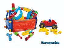 Caixa Com Kit Ferramentas Infantil 21 Pçs Poliplac 5931 -