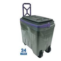 Caixa Cooler Térmica Com Rodinha - 34 Litros - Ate 50 Latas - Antares
