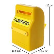 Caixa Correio Amarela Em Pvc Fixar Em Grade Vertical Bel -