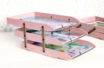 Caixa correspondencia articulavel tripla rosa Dello -
