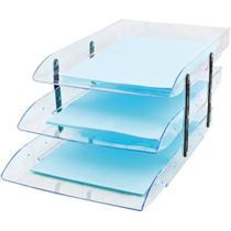 Caixa correspondência poliestireno tripla articulável cristal Dello CX 1 UN -
