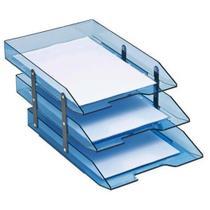 Caixa correspondência tripla articulável azul Acrimet -