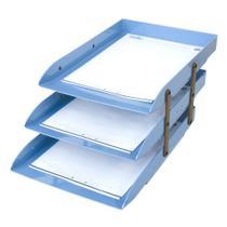 Caixa correspondência tripla articulável azul claro Dello -
