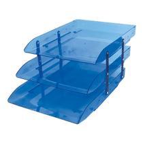Caixa correspondência tripla articulável azul Novacril -