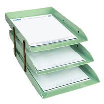 Caixa correspondencia tripla articulavel verde claro dello -
