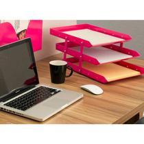 Caixa correspondência tripla móvel rosa waleu -