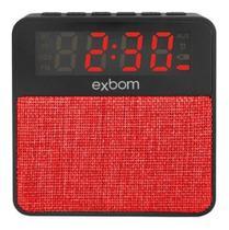 Caixa D Som Bluetooth Rádio Relógio Despertador Usb Micro Sd - Exbom