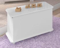 Caixa de Brinquedos com Rodízios Bb 710 Branco Completa Móveis - Completa Moveis
