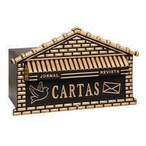 Caixa De Cartas Correio Alumínio P/ Portão Ou Muros Casinha - Barbosa Utensilios