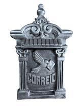 Caixa De Correio Alumínio P/ Portão Ou Muros grande estilo colonial - Bruno Acabamentos