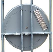 Caixa de Correio Cilindrica Com Visor Para Portão Plastico Cinza - Cdl Cilindrica