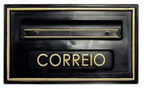 Caixa de Correio modelo Moderna 5 PVC  Preto e Dourada - Real - Ficone Reis -