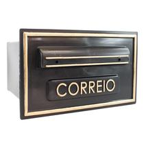Caixa de Correio Preto/Ouro 5P Real Caixas de Correio - Real Caixas Correio