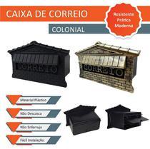 Caixa de Correios em  Polipropileno Embutir Muro 15 CM com Aba de Acabamento Colonial - Grupo Oiram
