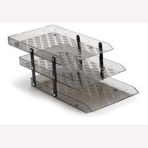 Caixa de correspondencia tripla movel acrilica fume - waleu -