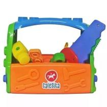 Caixa De Ferramentas Infantil 18pçs Kit Ferramentas Maleta - Calesita