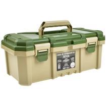 Caixa de Ferramentas Plástica Tática Camper Fecho Articulado Reforçado 18,3 Pol. - Metasul -