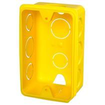 Caixa de Luz Krona Amarela para Eletroduto Flexível Corrugado 4X2 Embalagem com 24 Unidades -