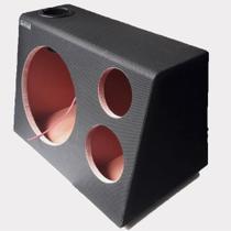 Caixa de madeira para som automotivo trio de 12 polegadas - Explode Box Sound
