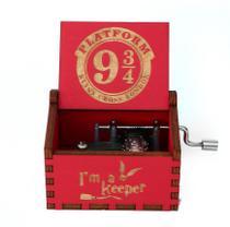 Caixa de musica harry potter vermelha -