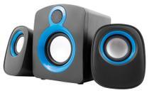 Caixa de som 2.1 Maxprint - 16W RMS - Preto e Azul - 6011430 -