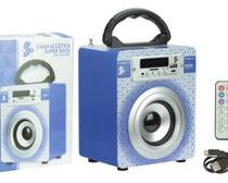 "Caixa de Som 3"" USB/TF/FM/BT Super Bass SPK-6 5W RMS - 5+"