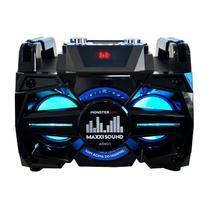 Caixa de Som Amplificada 180W RMS Monsterbox Preta Bivolt Maxxi Sound -