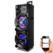 Caixa de Som Amplificada Amvox ACA 1001 New X 1000w Bluetooth, USB, Equalizador, Controle Remoto -