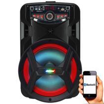 Caixa de Som Amplificada Amvox ACA 185 NEW X 180w Bluetooth, USB, Radio FM, Micro SD, Função Karaokê -