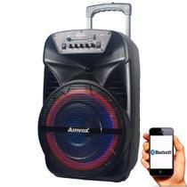 Caixa de Som Amplificada Amvox ACA 280 Black 280w Bluetooth, USB, Radio FM -