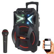 Caixa De Som Amplificada Amvox ACA 292 - 2900w com Microfone -