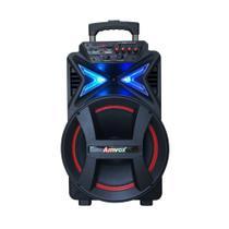 Caixa de Som Amplificada Amvox Aca 400 Strondo com Bluetooth, Rádio Fm, Entrada Usb e Conexão Tws 400w -