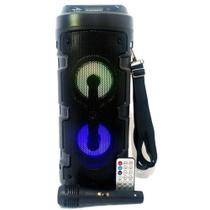Caixa De Som Amplificada Led Microfone Bluetooth Grasep DS14 -