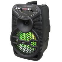 Caixa de Som Amplificada Lenoxx CA100, Rádio FM, Bluetooth, USB, Karaokê - Bivolt -
