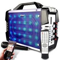 Caixa de Som Amplificada Mega Box Com Microfone XDG24 100w RMS Bluetooth USB SD Rádio FM - Xtrad