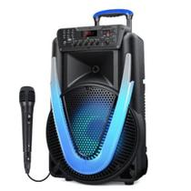 Caixa de Som Amplificada Multilaser Sunny II 500w Microfone -