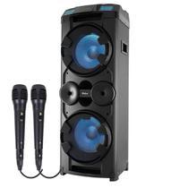 Caixa de Som Amplificada Philco PCX20000 1800w Bluetooth USB Radio FM Equalizador Com 2 Microfones -