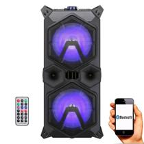 Caixa de Som Amplificada Sumay Taurus 440BT - 220w Bluetooth, Bateria Interna, Controle Remoto -