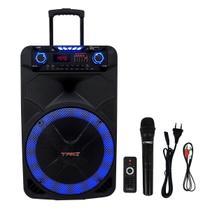 Caixa De Som Amplificada TRC 515 Bluetooth Usb/Fm/Aux/Sd 500W -