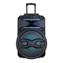 Caixa De Som Amplificada TRC 5550 Bluetooth Rádio FM USB 550W LED -