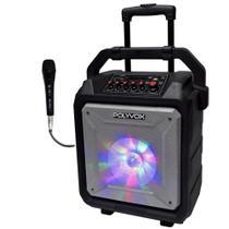 Caixa de Som Amplificada XB450 Polyvox Bluetooth Bateria120w -